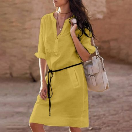 Belt-casual-dress-women-fashion-white-shirt-midi-dress-plus-size-solid-loose-pocket-half-sleeve-1.jpg
