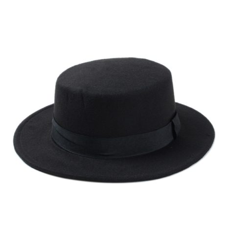 New-Fashion-Wool-Pork-Pie-Boater-Flat-Top-Hat-For-Women-s-Men-s-Felt-Wide-5.jpg